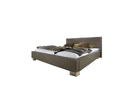 Maintal Betten 231714-4749 Polsterbett Lynes 160 x 200 cm, grober Strukturstoff taupe