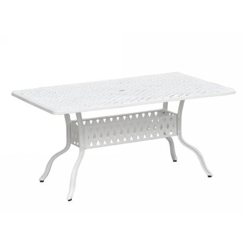 Inko Aluguss Tisch Nexus Weiß 150 x 97 cm 203-W