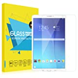 MoKo Galaxy Tab E 9.6 Screen Protector, [Scratch Terminator] Premium HD Clear 9H Hardness Tempered Glass Film for Samsung Tab E/Tab E Nook 9.6 Inch Tablet (Fit Both WiFi and Verizon 4G LTE Version) (Color: Clear)