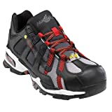 Nautilus 1317 ESD No Exposed Metal Safety Toe Athletic Shoe,Black/Silver/Red,10 M (Color: Black/Silver/Red, Tamaño: 10 M US)