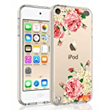 SYONER Clear Phone Case Cover for Apple iPod Touch 2019 / iPod Touch 7 / iPod Touch 6 / iPod Touch 5 [Peony] (Color: Peony)