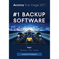Acronis True Image 2017 - 3 Devices (Sleeve Packaging) + ESET NOD32 Antivirus 2017 3 PCs