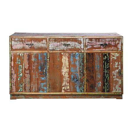 Sideboard Vintage Colore aus recyceltem Teakholz