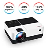 """Video Projector, GEARGO 2800 Lumens HD Portable Projector with 185"""" and 1080P Support, Compatible with Amazon Fire TV Stick/Laptop/ SD/XBOX/ iPad iPhone Android for Home Theater (Tamaño: 4.3 inch)"""