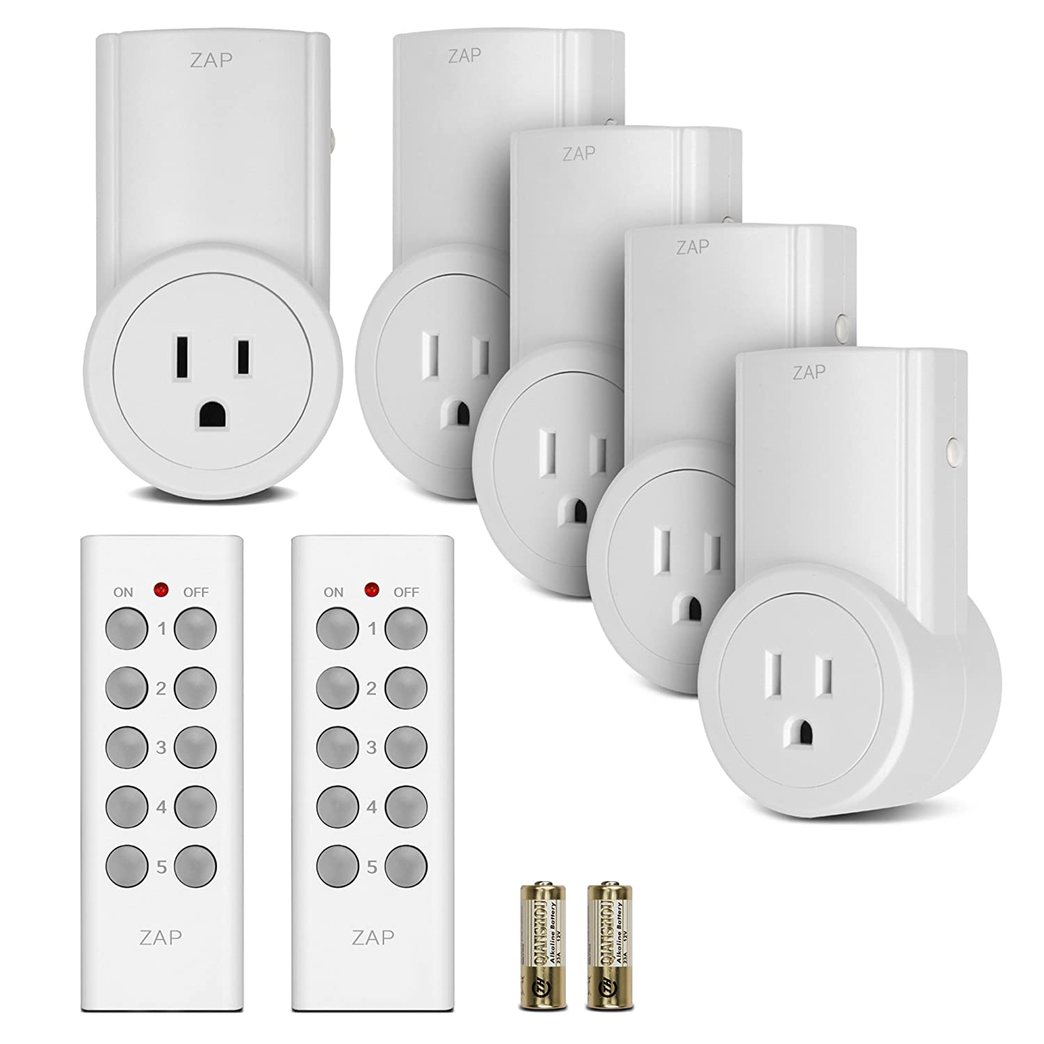 Etekcity Programmable Wireless Remote Control Electrical Outlet Light Switch Adapter & Converter Kit for Household Appliances