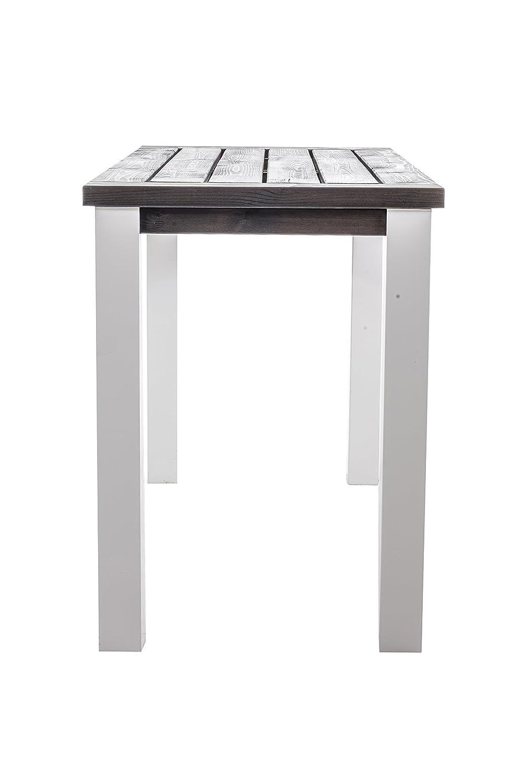 Ambientehome Bartisch Serie Marihamn, Sehr edel circa 175 x 75 x 100 cm, grau / weiß online bestellen