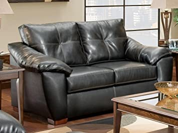 Chelsea Home Furniture Essex Loveseat, Thomas Black