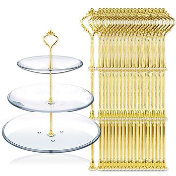 20 set gold metallstange mittellochausstech bis 3 etage. Black Bedroom Furniture Sets. Home Design Ideas