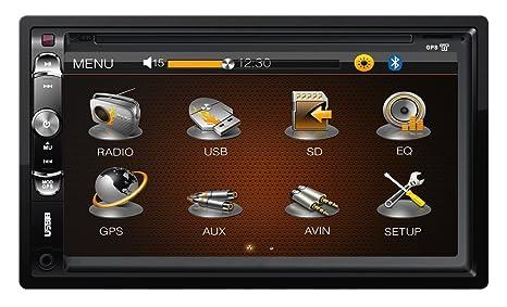 "Kruger&Matz KM2003 2DIN, 6.95"" avec DVB-T Tuner, GPS, USB, SD"