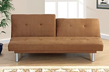 Adjustable Sofa in Saddle Brown Microfiber by Poundex