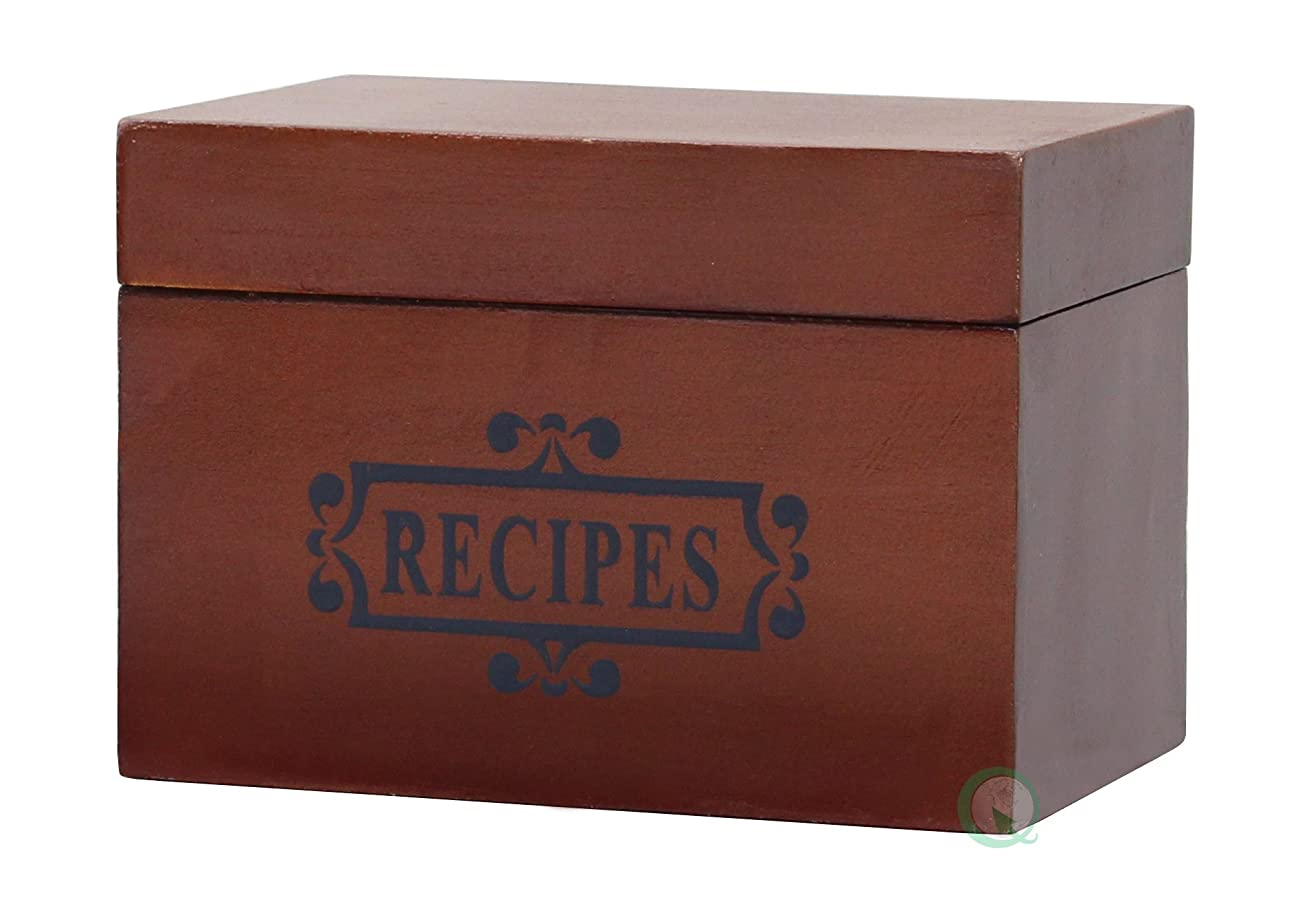 Vintiquewise(TM) Wooden Recipe Box 1