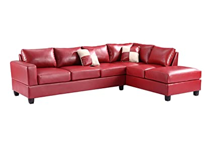 Glory Furniture G309B-SC Sectional Sofa, Red, 2 boxes