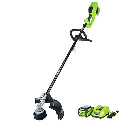 1. GreenWorks 21362 G-MAX 40V Digipro 14-Inch String Trimmer, 4AH Battery and Charger Included - Attachment Capable