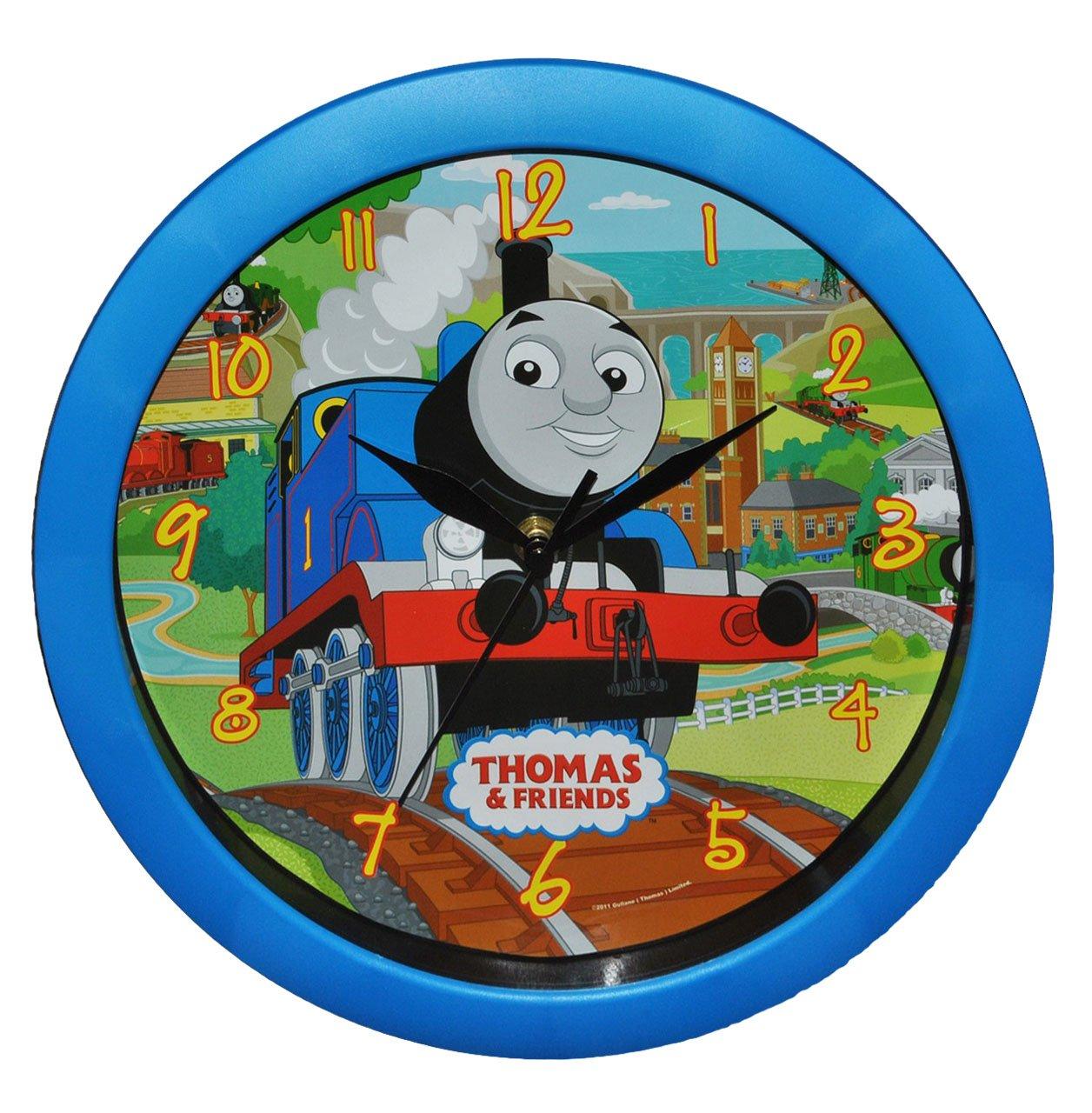 Wanduhr Thomas die Lokomotive – 29 cm groß Uhr – für Kinderzimmer Kinderuhr – Analog Jungen Eisenbahn Lok Zug Bahn Züge günstig