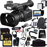 Panasonic AG-AC30 Full HD Camcorder with Touch Panel LCD Viewscreen and Built-in LED Light Ultimate Combo
