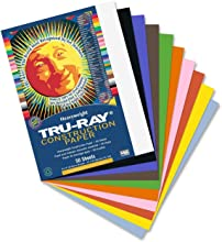 Tru-Ray Sulphite Construction Paper 9 x 12 Inches Assorted 50 Sheets 103031