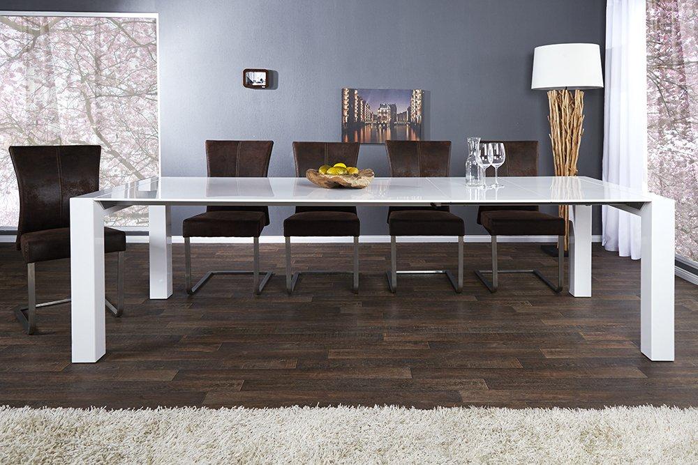Invicta Interior 12415 X7 Tisch Esstisch verlängerbar 180-270 cm, weiß