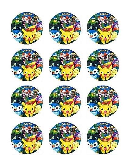 Pokemon Cupcake Rings Pokemon 4 Cupcake Edible