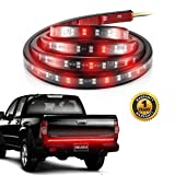 LED Tailgate Light Bars, ProGreen 60'' Truck Double Tail Light Strip 180 Leds IP65 Waterproof No-Drill Install for Running Lights, Brake Lights, Reverse Back up, Turn Signal Lights
