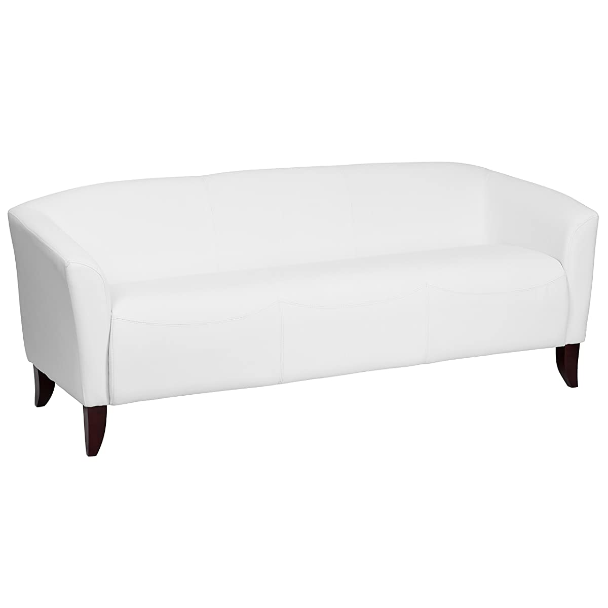 Flash Furniture HERCULES Imperial Series White Leather Sofa