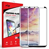 Zizo Full Glass Compatible with Samsung Galaxy S8 Plus Full Edge to Edge Tempered Glass Screen Protector Anti Scratch 9H Hardness Black (Color: Black)
