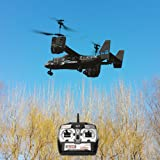 SUPOW Electric RTF Remote Control RC Helicopter, Mid-Sized 2.4GHZ 4.5CH Dual Axis RC Airplane with Double Gyro and Headlamp, Boy's Toy - Remote Control UAV Aircraft for Cool Kids (Black) (Color: Black)