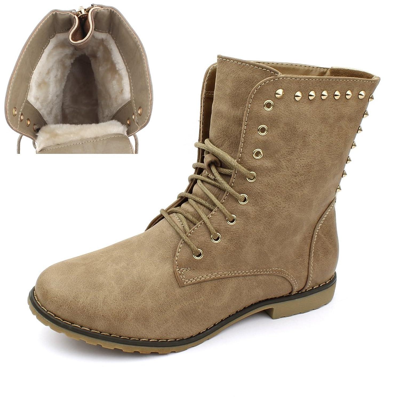 best-boots Damen Stiefelette Boots Nieten