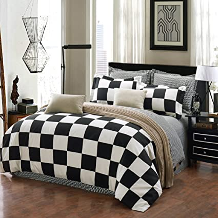 Checkered Flag Queen Bedding