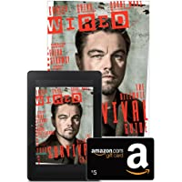 1-Year (12 Issues) of Wired Magazine Subscription + $5 Amazon.com Gift Card