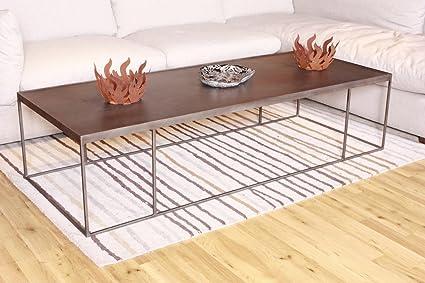 Couchtisch SINGA Lowboard Bank Wohnzimmertisch Sideboard Eisen grau 178x43x80cm