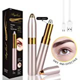 Anglink Eyebrow Hair Remover, 2019 USB Rechargeable Painless Portable Precision Electric Eyebrow Trimmer Removal Razor Tool for Women (Gold) (Color: Gold, Tamaño: 1.6*1.2*5.9 in)