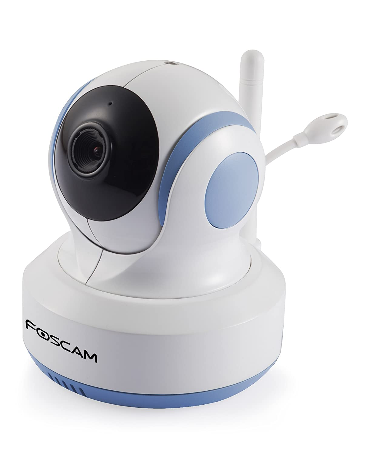 foscam fbm3502 digital video baby monitor auto motion tracking white blue. Black Bedroom Furniture Sets. Home Design Ideas