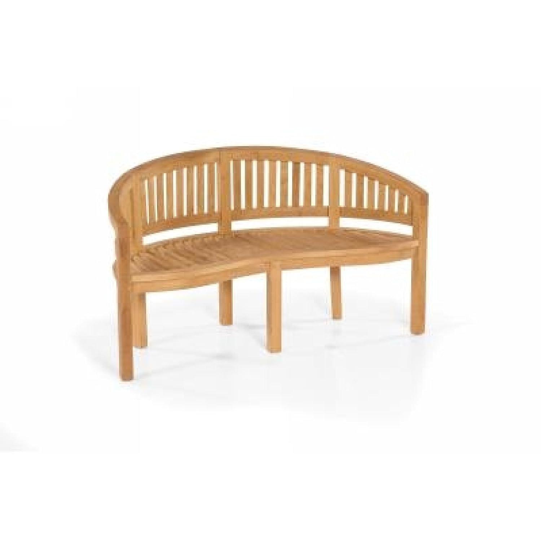 Sonnenpartner Gartenbank / Sitzbank / Nierenbank Castle-Garden Teakholz 80050015 online kaufen