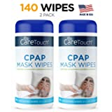 Care Touch CPAP Cleaning Mask Wipes - Unscented, Lint Free - 70 Wipes, Pack of 2-140 Wipes Tota (Tamaño: CPAP Mask Wipes (140))