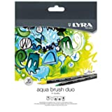 Lyra Aqua Brush Duo Brush Pens Fibre-Tip Pens Assorted Colours, 36 Fasermaler, 36 Fasermaler (Color: 36 Fasermaler, Tamaño: 36 Fasermaler)