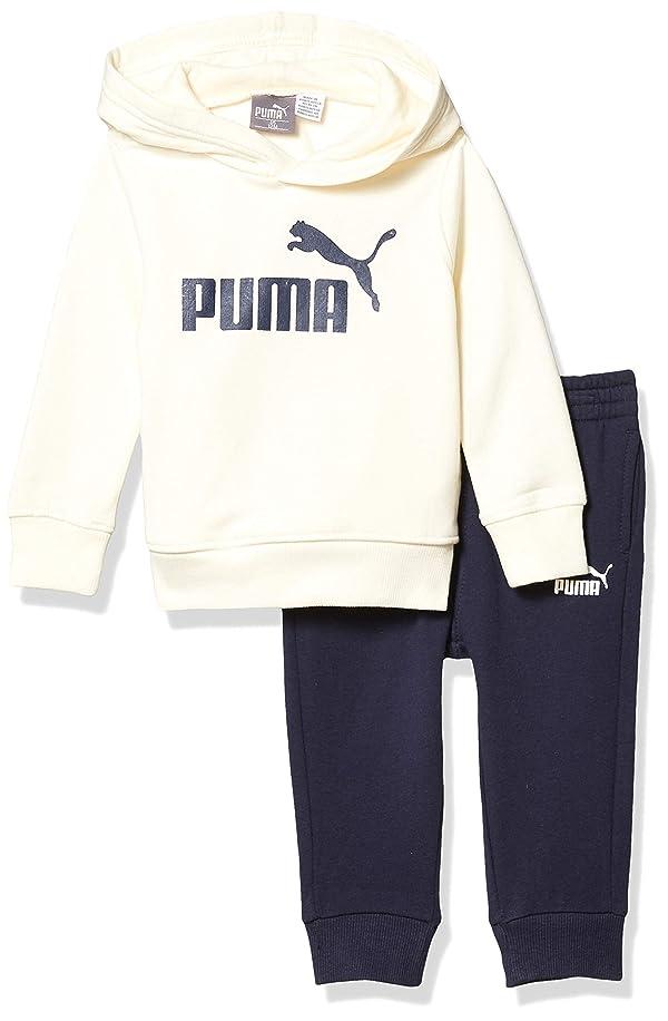 PUMA Baby Boys' Fleece Hoodie Set, Whisper White, 24M (Color: Whisper White, Tamaño: 24 Months)