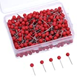 500 Pack Map Push Pins Map Tacks 1/8 Inch Small Size (Red) (Color: Red, Tamaño: 1/ 8 Inch)