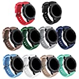 GinCoband Samsung Gear S3 Bands Replacement Accessories for Samsung Gear S3 Frontier and Gear S3 Classic Smart Watch 10 Color No Tracker (10-Pack, Watch Buckle Design) (Color: 10-Pack, Tamaño: Watch Buckle design)