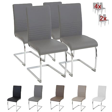 Albatros silla cantilever BURANO Set de 4 sillas Gris, SGS probado