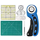 45mm Rotary Cutter with Rotary Cutter Blades 45mm(5pcs Replacements), Self-Healing Cutting Mat 22cm x 15cm, Acrylic Quilting Ruler 15cm x 15cm, ARTISTORE Perfect Set for Cutting Fabric, Paper, Leather (Tamaño: Rotary Cutter Set)