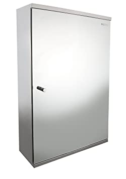 Ucore Mirror Cabinet with One Right Door, 15.7 by 23.6 by 5.1-Inch