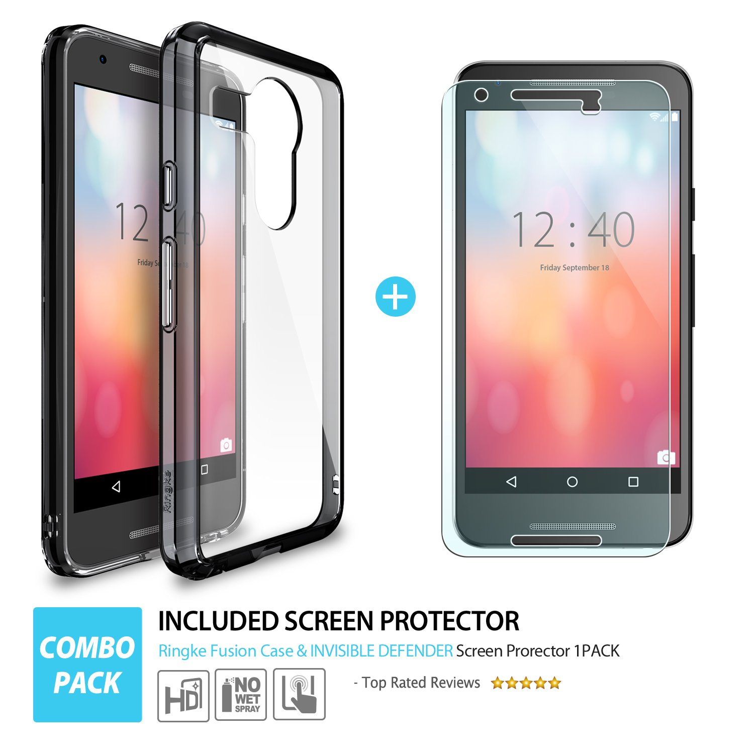rearth invisible defender nexus 5x screen protector 4 pack morethe