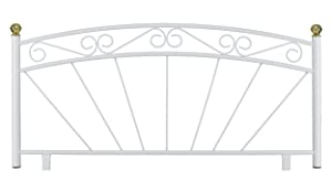 4&'6 Double Kent Metal Headboard, New, U.K. Made. Textured White Finish.       reviews and more information
