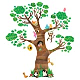Decowall DL-1709 Giant Tree and Animals Kids Wall Decals Wall Stickers Peel and Stick Removable Wall Stickers for Kids Nursery Bedroom Living Room (Color: Multicolor)