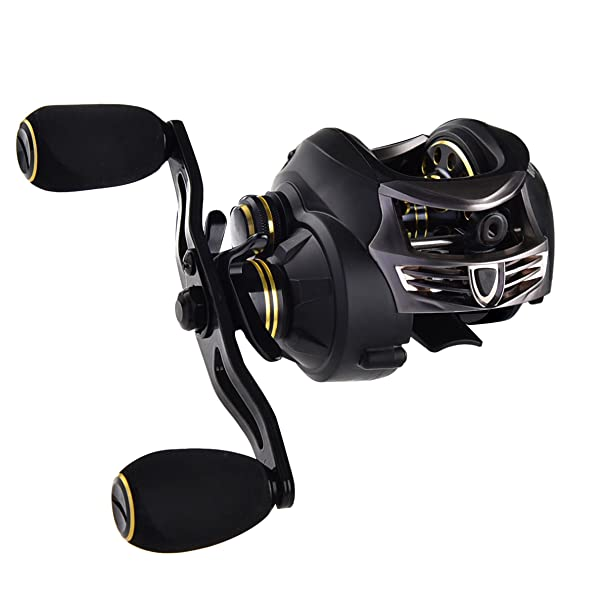 KastKing Stealth Baitcasting Reel - All Carbon Baitcaster Fishing Reel - 6oz Super Light Weight - 16.5 Lb Carbon Fiber Drag, 11 + 1 BB, Dual Brakes – Faster, Stronger, Lighter for Less Effort