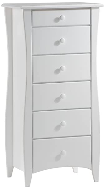 Storage Chest for Lingerie in White - Button Pulls
