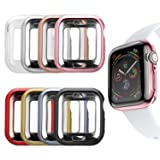 MAIRUI Compatible with Apple Watch Cover Case 44mm [8 Pack], Bumper Guard Protector Accessories Ultra-Slim Lightweight for iWatch Series 5/4 (Tamaño: 44mm)