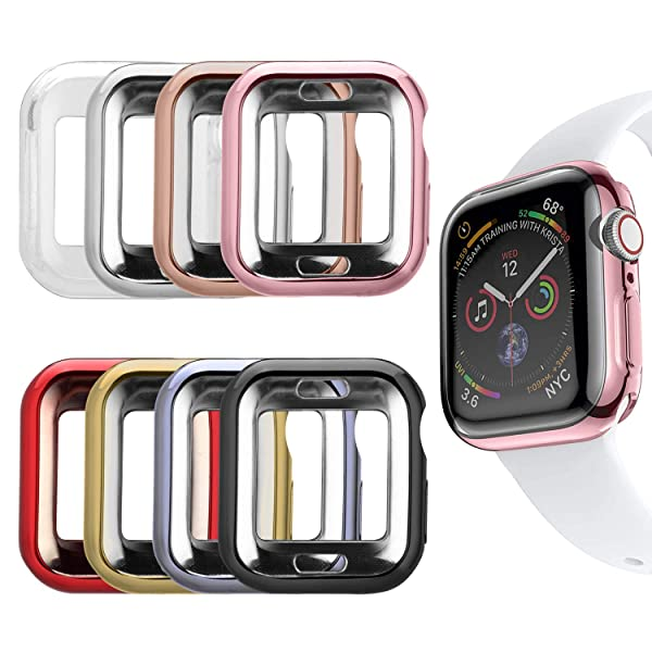 MAIRUI Compatible with Apple Watch Case 38mm [8 Pack] Protector Bumper Cover TPU Ultra-Slim Lightweight for iWatch Series 3/2/1, Sport/Edition (Color: 8 Pack, Tamaño: 38mm)