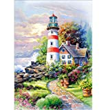 Lookatool DIY Paintings,5D Embroidery Kits Rhinestone Pasted True Diamond Cross Stitch Decor DZ-113 (Color: D, Tamaño: As described)
