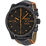Mido Men's MIDO-M0056143605122 Multifort Analog Display Swiss Automatic Black Watch with extra orange band